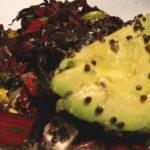 Warm Avocado – Feta Black Quinoa Salad