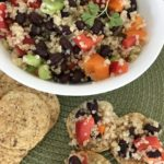 Black bean, quinoa and red pepper salad with honey-lime vinegrette